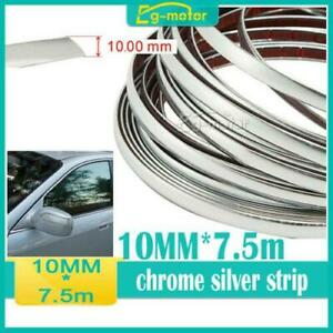 10mm 7 5m Silver Chrome Self Adhesive Car Door Edge Moulding Trim Strip 25ft