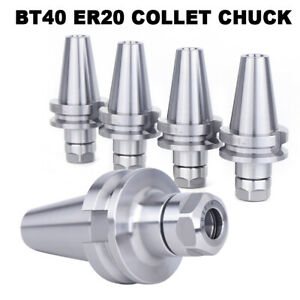 4pcs Bt40 Er20 Collet Chuck W2 75 Gage Length Tool Holder Set Great New Cnc