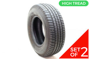 Set Of 2 Used 265 70r16 Michelin Defender Ltx M s 112t 10 5 11 5 32