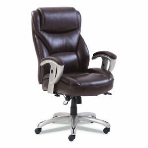 Sertapedic Emerson Big And Tall Task Chair Supports Up To 400 Lbs Brown Seat