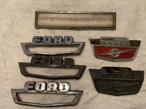 Vintage Lot Of 6 Ford Automobile Emblems See List Below
