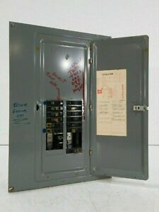 Square D Qoc42ol Panel With Breakers Type 1 Enclosure