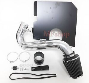 Black For 2005 2009 Ford Mustang Base 4 0l V6 Heat Shield Cold Air Intake Kit