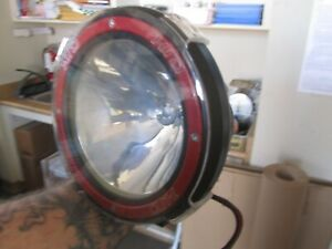Lot Of 2 Hid 7 Off Road Round Fog Lights W Red Housing Brand New In Box