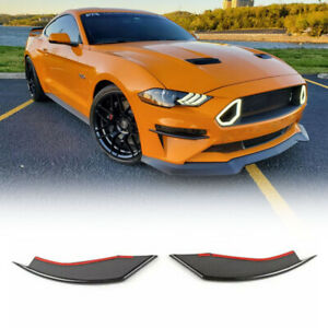 Carbon Fiber Abs Front Fog Light Lamp Cover Trim For Ford Mustang 2018 2019 2pcs