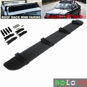 Car Rack Aerodynamic Roof Wind Fairing Air Deflector Kit 40 Inches Universal