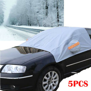 5pcs Car Windshield Cover Sun Shade Protector Winter Snow Ice Rain Dust Frost