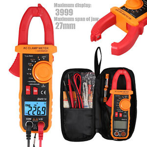 Clamp Digital Multimeter Amp Meter Ohm Ac dc Current Voltage Volt Tester Probe
