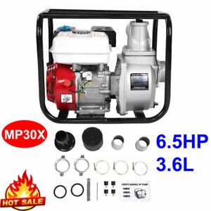 3in Gas Water Semi Trash Pump 6 5hp 8m Garden Irrigation Swimming Pool Cleaning
