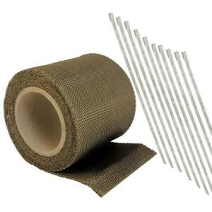 Titanium Exhaust Header Pipe Heat Wrap Roll Tape 4 72in X 15ft