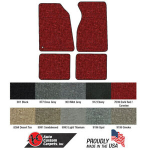 New Mustang Floor Mats 1994 2004 Set Of 4 Carpeted