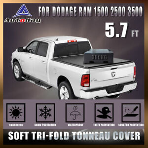 Fit 2009 2018 Dodge Ram 1500 5 7 Soft Bed Tri fold Tonneau Cover Oem By Turbo