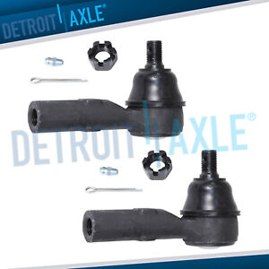 For 2011 2017 Honda Odyssey 2006 2014 Ridgeline Front Outer Tie Rod End Pair