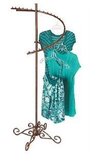 Spiral Clothes Rack Clothing Display Retail Garment Fixture Copper 63 X 26
