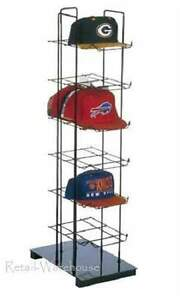 Cap Rack Baseball Display Countertop Hat 36 Caps Tower 6 tier 38 Black