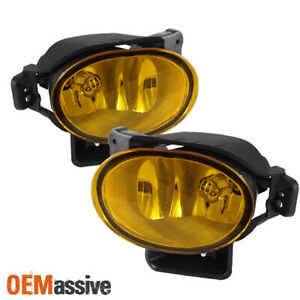 Fits 07 08 Tl Base Type S Jdm Yellow Bumper Fog Lights Lamp Replacement W bulbs
