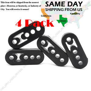4pcs Performance Polyurethane Adjustable Muffler Black Exhaust Hangers Universal