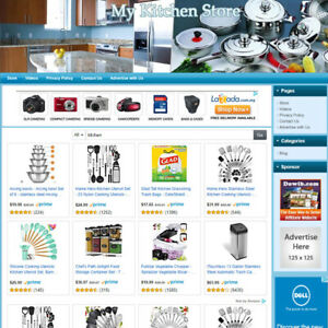 Kitchen Store Turnkey Online Affiliate Business Website For Sale Free Domain