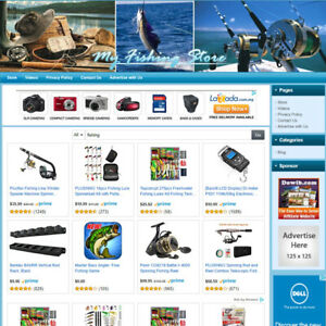 Fishing Store Professional Designed Online Affiliate Business Website For Sale