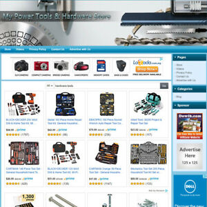 Power Tools Hardware Store Home based Affiliate Business Website For Sale