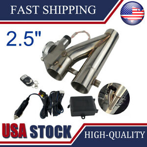2 5 Electric Exhaust Downpipe Cutout E Cut Out Dual Valve Remote Wire