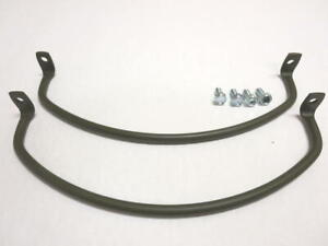 Vintage Military Willys Jeep M38 G740 Us Made Headlight Guard Set