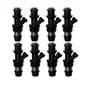 8 X Upgrade Fuel Injectors 17113739 For Chevy Gmc Marine 8 1l 25348180 25176061