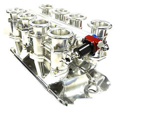 Maximizer Individual Throttle Body For Chevy Small Block 350 50mm Air Horns