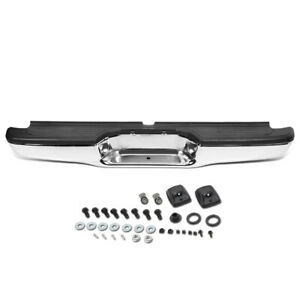 Fit 95 04 Toyota Tacoma Stainless Steel Rear Step Bumper W license Plate Lights