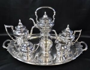 Gorham Sterling Silver Full Coffee Tea Service 22 Lbs Solid Sterling Silver