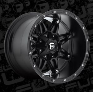 Fuel Hostage D531 18x12 8x6 5 Et 44 Matte Black Wheels Rims Set