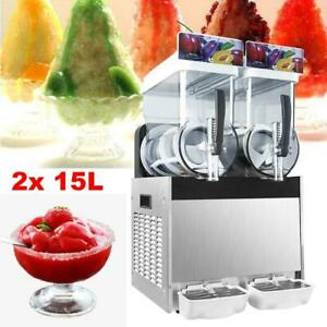 15l 15l Commercial Frozen Drink Slush Ice Juice Smoothie Maker Margarita Machine