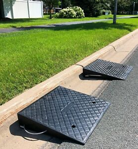 Curb Buddy Rubber Ramps Made To Drive Heavy Equipment Over A Curb 2 Ramps