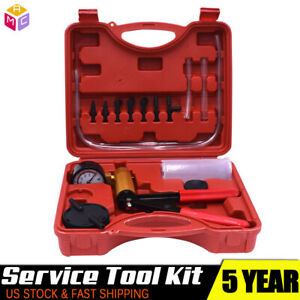 Vacuum Brake Bleeder Kit Vacuum Pump With Gauge Air Pressure Fluid Bleed Tool