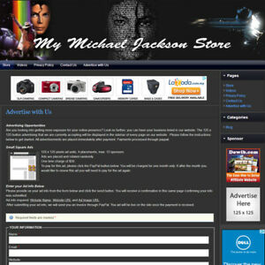 Micheal Jackson Store Fully Automated Affiliate Home Business Website For Sale