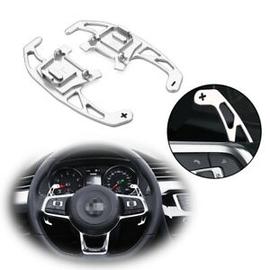 Silver Aluminum Dgs Extension Steering Wheel Shift Paddle For Vw Gti Golf Jetta