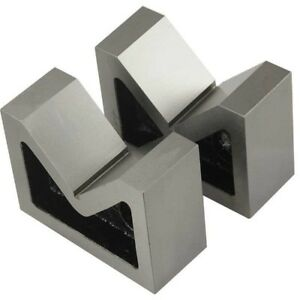 Combo Of 2 Sets Of Cast Iron Vee Block Pair 3 4 V Block Without Clamp