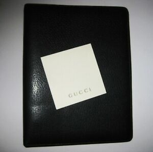 Genuine Gucci Leather Filofax Binder Notebook Planner Agenda 9 X 7 X 1 5