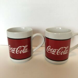 1996 Vintage Coca Cola Mugs  Coffee Cup  Set Of 2