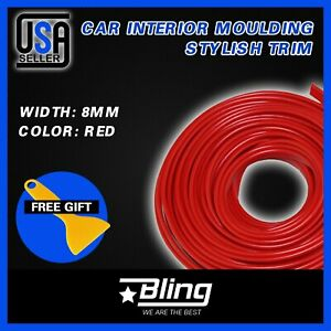 32feet Auto Parts Car Interior Molding Moulding Strip Panel Gap Trim Red W Tool