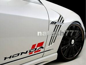 Honda Sport Racing Performance Car Vinyl Decal Sticker Emblem Logo 2pcs pair