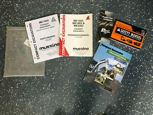 Mustang 1503 1903 2203 Mini Excavator Bundle Operation And Parts Manual S 909825