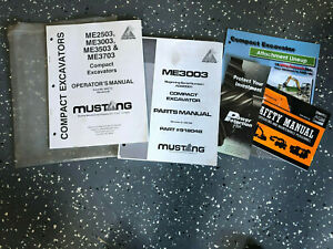 Mustang 3003 Gehl 303 Bundle Excavator Parts And Operator s Operation Manual S