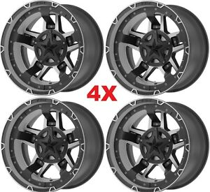 20 Black Wheels Rims Rockstar Xd827 20x9