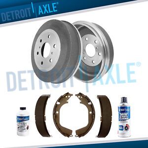 Rear Brake Drums Ceramic Shoe 2009 2010 2011 2012 2013 Silverado Sierra 1500