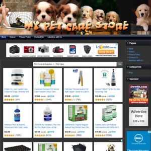 Pet Supplies Store Ready To Go Online Business Website For Sale Free Domain