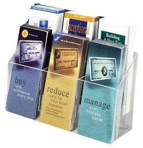 Lot Of 6 Brochure 2 Tier 6 Pocket Pamphlet Rack Fits 4 X 9 Literature
