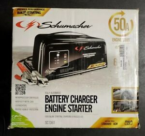 Schumacher Sc1361 Automatic Battery Charger Steel 2 10 50 Amp Free Shipping
