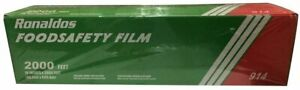 Ronaldo s Food Safety Film W Slide Cutter 18 X 2000 Commercial Plastic Wrap