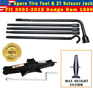 2002 15 Dodge Ram 1500 Spare Tire Lug Wrench Scissor Jack Replacement Tool Set